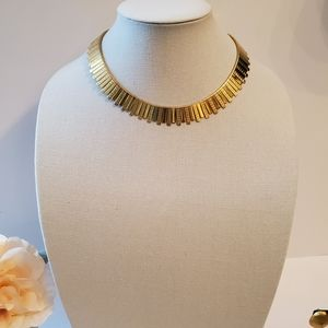 Vintage Gold Tone Cleopatra Style Necklace